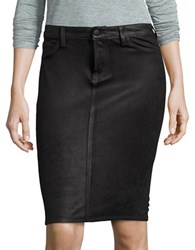 Jessica Simpson Plus Faux Suede Pencil Skirt Black