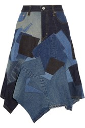 Junya Watanabe Patchwork Denim Skirt Mid Denim