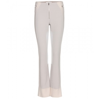 Marc Jacobs Flared Wool Blend Trousers Bone Cream White
