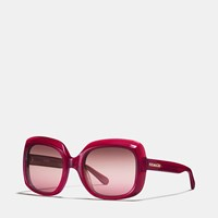 Coach Oasis Square Sunglasses Burgundy