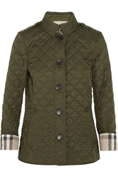 Burberry Brit Quilted Shell Jacket Army Green