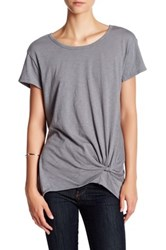 Socialite Knot Front Tee Gray