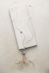 Anthropologie Cassowary Pendant Necklace Gold