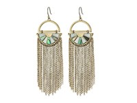 Lucky Brand Abalone Fringe Earrings Medium Dark Gold Earring