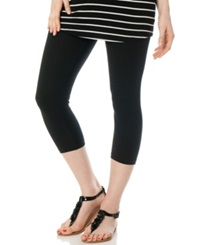 A Pea In The Pod Skinny Cropped Maternity Leggings Black