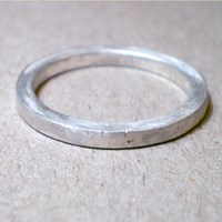 Catherine Marche Hogart Ring Square Wedding Ring In Sterling Silver