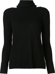 Halston Heritage Racer Back Cut Out Jumper Black