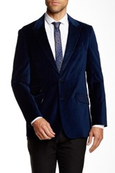 Robert Graham Kirkcaldy Two Button Peaked Lapel Sportcoat Blue
