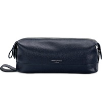 Aspinal Of London Men's Classic Leather Washbag Navy