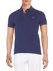 Gant Regular Fit Polo Shirt Blue