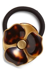 France Luxe 'Bellflower' Ponytail Holder Brown Tokyo Gold
