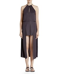 Halston Heritage High Low Romper Thunder