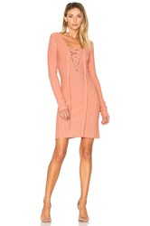 For Love And Lemons X Knitz Simone Lace Front Sweater Dress Pink
