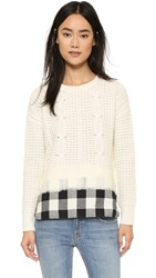 Madewell Sydney Needled Woven Pullover Snowflake