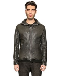 Giorgio Brato Washed Leather Bomber Jacket