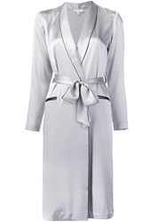 Fleur Du Mal Long Smoking Robe Metallic