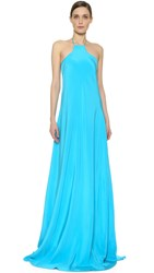 Kaufman Franco Zip Back Gown Turquoise