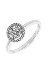 Women's Bony Levy Flower Diamond Stackable Ring White Gold Nordstrom Exclusive
