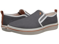 Tommy Bahama Relaxology Ryver Canvas Dark Grey Men's Slip On Shoes Gray