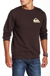 Quiksilver Cliff Check Crew Neck Sweater Brown