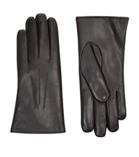 Harrods Of London Rabbit Fur Lined Leather Gloves Female