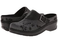Klogs Usa Austin Grey Flannel Tapestry Women's Clog Shoes Black