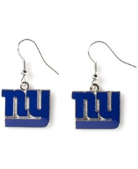 Aminco New York Giants Logo Drop Earrings Team Color