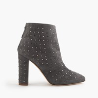J.Crew Adele Crystal Suede Boots Heron Grey
