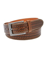 Fossil Brady Embossed Leather Belt Brown