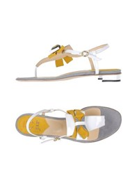 O Jour Footwear Thong Sandals Women White