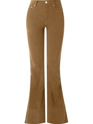 Amapa Flared Velvet Trousers Brown