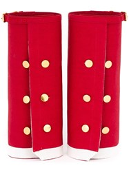 Undercover Oversized Shirt Cuffs Red