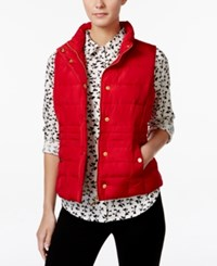 Charter Club Petite Quilted Vest Only At Macy's New Red Amore