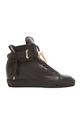 Buscemi 100Mm Leather Altas In Black