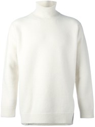 Ports 1961 'Fully Fashioned' Turtleneck Sweater White