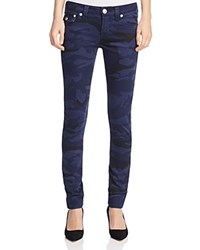 True Religion Camo Print Skinny Jeans In Dark Navy Compare At 189