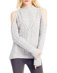 Jessica Simpson Knit Cold Shoulder Pullover Grey