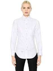 Thom Browne Striped Placket Cotton Oxford Shirt