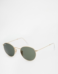 Ray Ban Round Sunglasses Gold