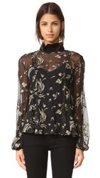 Suno Ruffle Top Black Gold