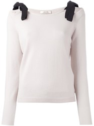 Dorothee Schumacher Lace Up Shoulders Pullover Nude Neutrals