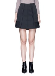 Alexander Wang Quilted Edge Peplum Skirt Black