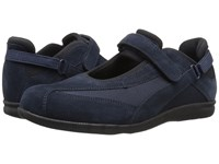 Drew Shoe Joy Navy Suede Navy Stretch Women's Maryjane Shoes Blue