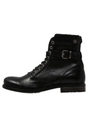 Sneaky Steve Shed Laceup Boots Black