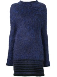 Scanlan Theodore Striped Hem Turtle Neck Jumper Blue