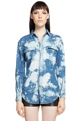 Women's Saint Laurent Punk Wash Chambray Western Shirt