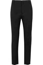 Etoile Isabel Marant Noah Checked Slub Cotton Tapered Pants Dark Gray