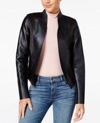 Guess Senay Faux Leather Jacket Jet Black