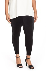 Eileen Fisher Stretch Velvet Ankle Leggings Plus Size Black