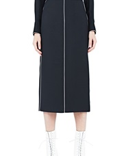 Valentino Long Pencil Skirt Black